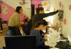creating in the studio