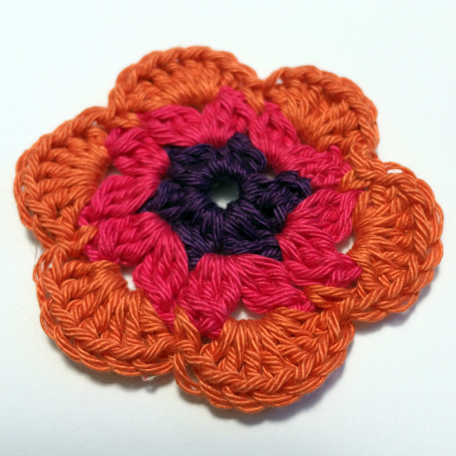 flower crochet - 3 colors 2