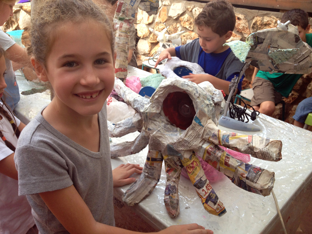 working with papier mache 2