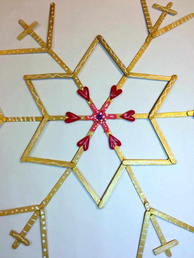 snowflakes hanouka 2014