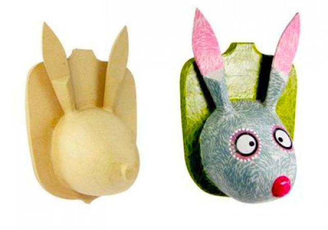 ראש ארנב מעיסת נייר - דקופאצ'