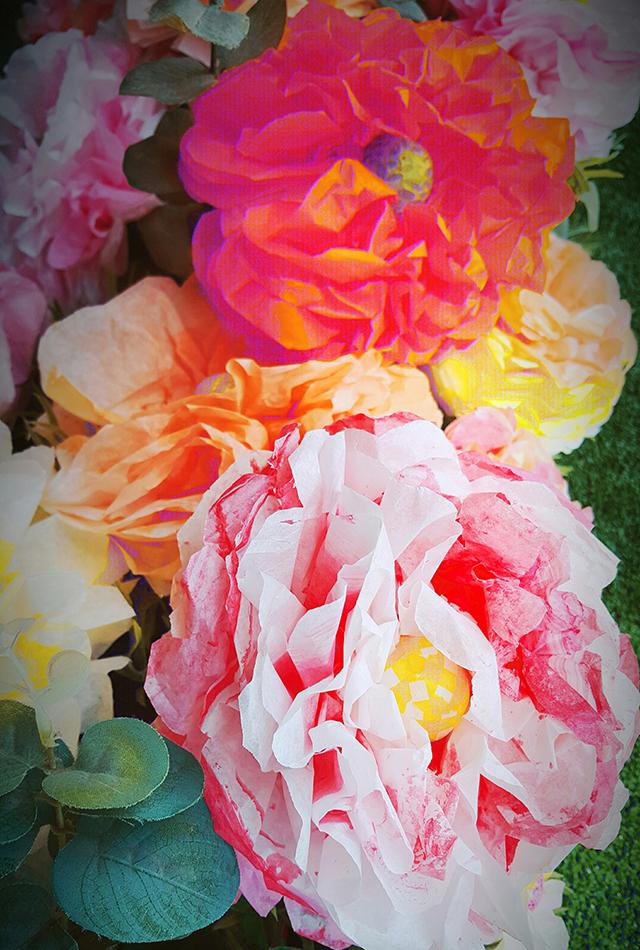 ליצור פרחים בנייר-2