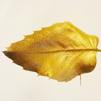 gold leaf garland